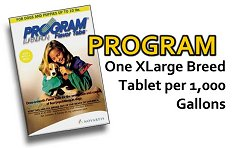Program White Use 1 tab per thousand gallons
